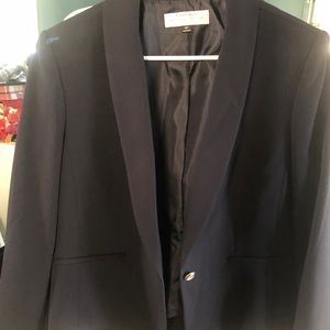 Suit jacket with skirt